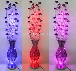 candeeiros de pé Desconto Atacado-1pc Vase lâmpadas de alumínio chão lâmpada mão-tecido arte iluminação casamento luzes decorativas de alta qualidade Metal Made Floor lights