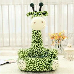 stuffed animal stuffing NZ - Wholesale-Promotion Sale 45cm Plush Toy Pure Cotton Sofa Cartoon Toy Giraffe Toys & Hobbies Doll Stuffed & Plush Animal Kids Gift