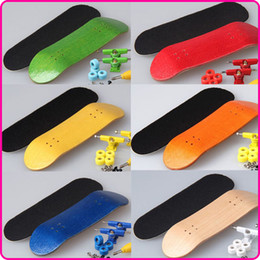 Wholesale Wholesale Cruiser Boards - Wholesale-Fingerboard wood board only cruiser skateboard deck parts Screwdriver 8 colors available