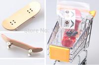 Wholesale Cheap Skateboard Wheels - Wholesale-Free shipping cheap promotional multi color maple wood bearingless wheels mini skateboard for kids gift