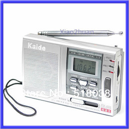 Discount radio receiver sw Wholesale--S72Free Shipping AM FM SW 10 Band Shortwave Radio Receiver Alarm Clock N