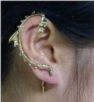 Wholesale Game Thrones Ear Cuff - Wholesale-E409 Women Gothic Punk Game of Thrones Dragon Ear Cuff Free shipping chain brooch
