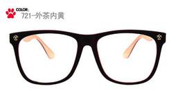 Wholesale Tv Protection Glasses - Wholesale-Computer TV Radiation Protection Reading Glasses square frame clear glasses plain glasses +0 degree