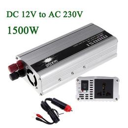 Wholesale 12v Inverter Transformer - Wholesale-1500W WATT DC 12V to AC 230V Portable Car Power Inverter Charger Voltage Converter 12V To 230V Transformer