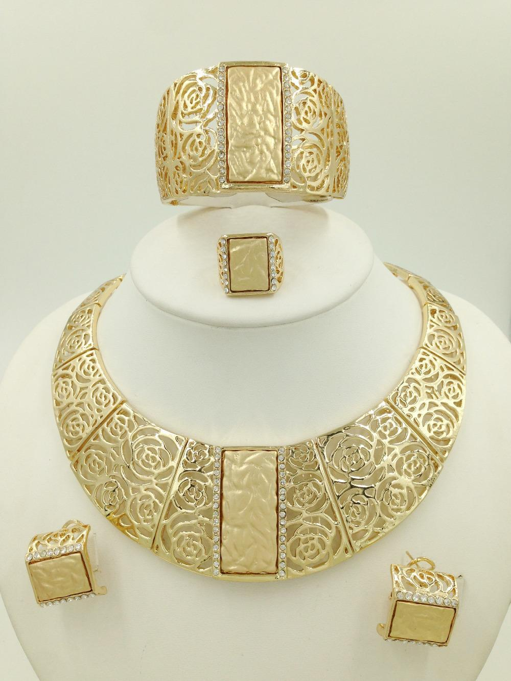 Wholesale 2015 Miss Folli Jewelry Sets Charming Dubai Gold Plated