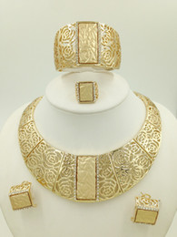 Wholesale Gold Costume Jewelry Set - Wholesale-2015 Miss Folli Jewelry Sets Charming Dubai Gold Plated Trendy Classic Rose Designs Costume Jewelry Set For Fashion Women