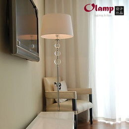 Wholesale Ikea Crystal Floor Lamp Living Room Bedside Fashion Brief Fabric Coffee Tables Lighting Fixture E27 Bulb 220v