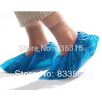 chaussures de pluie couvrent en gros achat en gros de-Gros-YM gros bleu jetable en plastique vert étanche à la pluie couvre-chaussures H0656 P
