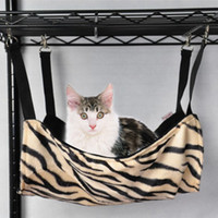 Gros-Cat Kitten Hanging Ferret Hammock Hang On Zebra-Stripe design Bed Cage Pad S Drop Shipping