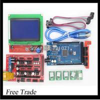 Wholesale Stepper Driver Controller - Wholesale-1pcs Mega 2560 R3 + 1pcs RAMPS 1.4 Controller + 5pcs A4988 Stepper Driver Module +1pcs 12864 controller for 3D Printer kit