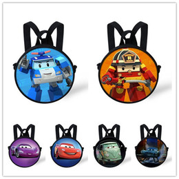 Wholesale Children School Bag Car Blue - Wholesale-New 3D cartoon children school bags cars-styling book bag for primary school car shape poli kids schoolbag boys mochila infantil