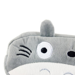 Wholesale Cute Plush Pencil Case - Wholesale-2015 newest high quality Lovely animal prints Totoro Soft Plush Pen Pencil Cosmetic Makeup Zipper Bag Pouch cute Case hot sale