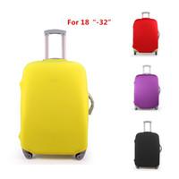 protetores de bagagem venda por atacado-Atacado-Novo! 4 cores doces 18-32 polegada elástico bagagem de viagem capas protetoras esticável protetor mala capa 28 30 polegada