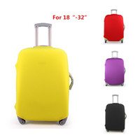Wholesale Luggage 28 Inch Travels - Wholesale-New! 4 candy colors 18-32 inch elastic travel luggage protective covers stretchable protector suitcase cover 28 30 inch