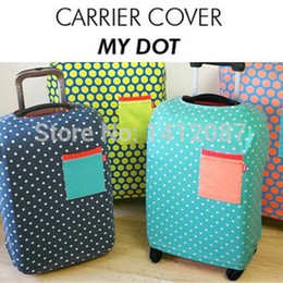 Водонепроницаемые чемоданы онлайн-Оптовая продажа-Бесплатная доставка путешествия багажа защитные крышки,эластичный стрейч водонепроницаемый чемодан Крышка для для 18 до 30 дюймов чехол