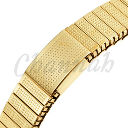 Wholesale Magnetic Elastic Bracelet - Wholesale-2015 Ladies 18K Gold Ionic Plating Elastic Magnetic Bracelet Imitation Costume Jewelry Women Bangle Free Shipping Hong Kong Post