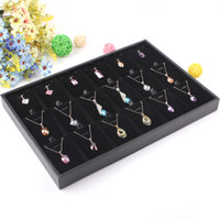 Wholesale Bracelet Show Case - Wholesale-2015 New style Wholesale earrings display tray Earrings Organizer Show Case Jewelry Display New linen jade pendant Display tray