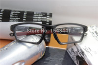 Wholesale Eyeglass Crosslink - Wholesale-Free shipping Satin black eyewear crosslink sweep sport eyeglasses frames 20 colors for optical glasses Men OX8031 with box