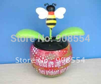 Wholesale Air Parcel Post - Wholesale-solar power flower bee 30pcs per lot Free shipping via China post air parcel