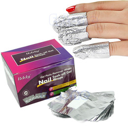 "бесплатно x искусство Скидка B86""""NEW 100 x Aluminium Foil Nail Art Soak Off Acrylic Gel Polish Nail Wraps Remover free shipping"