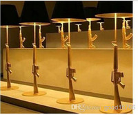 Wholesale Gun Floor Lamp - Wholesale-Wholesale - Modern minimalist AK47 submachine gun resin floor lamp living room bedroom lighting study lighting resin table lamp