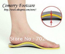 Wholesale Shoes Inserts Wholesale - Wholesale-3D Premium Comfortable Orthotic shoes Insole TPU Orthopedic Insoles For Shoes inserts Arch Support pad pairs Free shipping