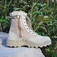 Wholesale Boots Swats - Wholesale-US special forces tactical boots wholesale SWAT combat boots desert boots leather combat boots military fans