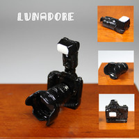 All'ingrosso-Digital Camera Lens Black Metal 1:12 Dollhouse miniatura per misura- Orcara regalo in miniatura Giocattoli Bambole Accessori Miniature 1/12