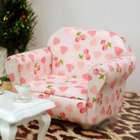Wholesale Dollhouse Miniature Sofa - Wholesale-New 2015 Brand New 1 12 Dollhouse Miniature Single Sofa Light Pink Free Shipping