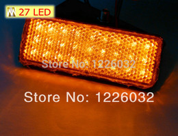 Wholesale Led Truck Rear Stop Light - Wholesale-amber Lens Rectangle rear light orange color LED Reflector Tail Brake Motorcycle Stop Light Indicator Truck Trailer tail light