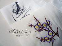 Wholesale Handmade Embroidered Handkerchiefs - Wholesale-WHOLESALE 10PCS 22*22cm CHINESE HANDMADE EMBROIDERED SILK Handkerchief