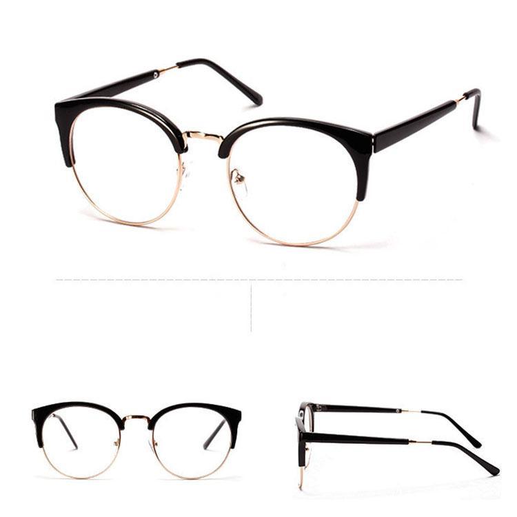 Wholesale-Plastics Alloy Super Cool Glasses Frame Patchwork Good ...