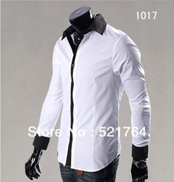 Wholesale Korean Leisure Styles Cotton Shirt - Wholesale-Free Shipping ! 2015 spring autumn New Fashion Casual Grid long-sleeved men's shirts Korean Leisure styles cotton shirt M-XXL