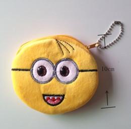 Wholesale Despicable Pouch - 30PCS Kawaii Yellow Minions Despicable ME Coin Bag Purse & Wallet Pouch ; Mini Handbag Case Sack ; Cash BAG Change Purse Pouch