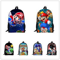 Wholesale Super Mario Backpacks For Kids - Wholesale-2015 Hot Sale Children's 3D Cartoon Backpack,Cool Outdoor Super Mario School Backpack for Kids,Mario Bros Shoulder Bags for