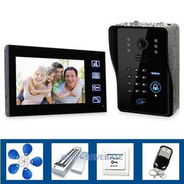 "Wholesale Video Door Locks - Wholesale-HOMSECUR Touch Key 7"" Video Door Phone System Wth IR Camera & Code Keypad Magnetic Lock Doorbell"