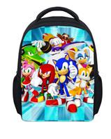 Wholesale Hedgehog Bags Backpack - Wholesale-Fashion Children Cartoon Small Backpack Boys Bagpack,Sonic the Hedgehog Bag Kindergarten Baby Backpack,Sonic Backpack Mochila