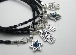Mezcla de plata antigua Fátima Hamsa mano encanto mal de ojo judía religión suerte brazalete pulsera protección regalo de la joyería de la Cábala desde fabricantes