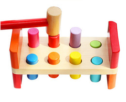 Wholesale Pounding Bench - Wholesale-Perfect Quality Wooden Pounding Bench With Hammer Kids Baby Preschool Toys