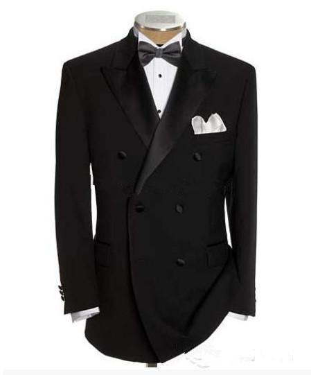Wholesale-2015 Modern Tuxedos Black men's dress prom wedding suits for men classic groom tuxedos