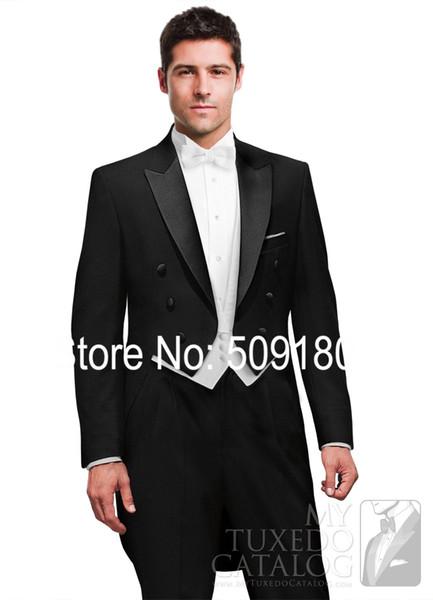 Wholesale-High quality customized tuxedo wedding male suit design 5 pieces(Coat+Pants+Vest+tie+Shirt) TZ72705 grooms men tuxedos 2015