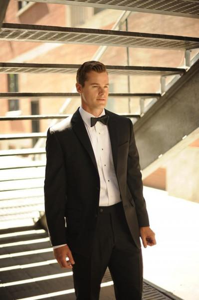 Wholesale-2015 sale Modern Men's morning dress l Black men's dress prom wedding suits for men sequin groom suits