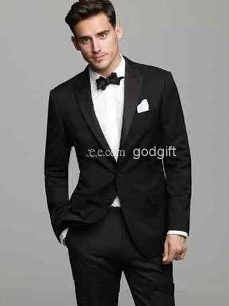 Wholesale-2015 sale Modern Men's morning dress Black men's dress prom wedding suits for men classic groom