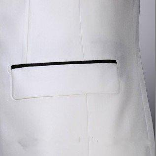 Wholesale-2015 Custom made White groom tuxedos One Button Color groom suits New wedding suits for man