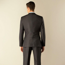 Wholesale Modern Suits For Men - Wholesale-2015 Modern Men's morning dress Grey wedding suit prom wedding suits for men classic groom tuxedos