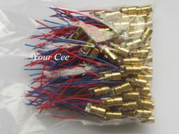 Wholesale Red Module - Wholesale-100pcs 650nm 6mm 3V 5mW Laser Dot Diode Module Red Copper Head