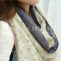 Wholesale Ladies Shawls Styles - Wholesale-2016 New Arrival Fashion Autumn and Winter Ladies' Nautical Style Anchor Long Scarf Wraps Voile Scarf Scarves Shawl SX-832