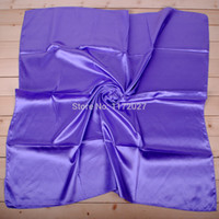 Wholesale silk hijab wholesale - Wholesale-scarf women 2015 spring solid color silk scarf satin large square scarf 90 * 90 cm bandana scarf shawl hijab mini order $6