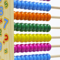 Wholesale Counting Abacus - Wholesale-New 10-Row Classic Colorful Bead Wooden Abacus Child Educationnal Calculate Count Numbers Math Learning AIDS wooden toys