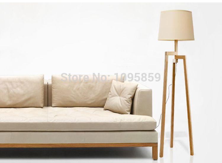 2018 Wholesale Modern Nordic Style Wooden Floor Lamp Tripod Folding ...